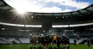 A general view of Ireland training at the Stade de France ahead of the Six Nations clash with France. Photo: Dan Sheridan/Inpho