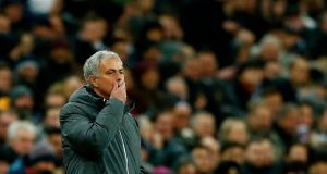 José Mourinho has conceded the title to Manchester City for the first time. Photograph: Ian Kington/AFP