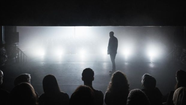 How It Is: Conor Lovett in Gare St Lazare Ireland's production of the first part of Samuel Beckett's three-part novel