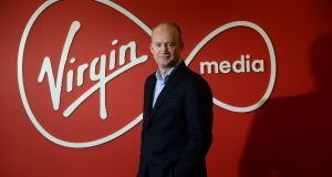 Tony Hanway, chief executive of Virgin Media Ireland, at his office in Dublin. The company is owned by John Malone's Liberty Global group. Photograph: Dara Mac Dónaill