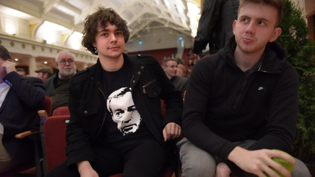 At the Freedom to Prosper conference on Irexit were James Byrne and James McMahon. Photograph: Bryan Meade