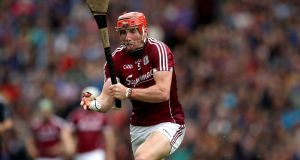 Conor Whelan's goals got Galway over the line against Laois. Photograph: Ryan Byrne/Inpho