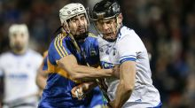 Tipperary's Patrick Maher tackles Waterford's Kevin Moran  during Tipperary's 1-20 to 1-11 victory at Semple Stadium, Thurles, Tipperary. Photograph: Cathal Noonan/Inpho