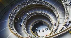 The spiral staircase at the Vatican. 'The Vatican is undercutting all of those poor commentators who were hoping to gain some social currency in pretending to be marginalised.'