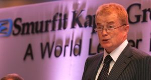 Smurfit Kappa Group chairman Liam O'Mahony. The paper-based packaging group reports full-year results on Wednesday. Photograph: Cyril Byrne