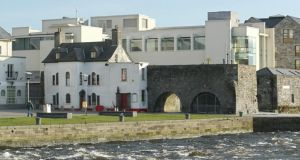 The new Galway City Museum stands behind the Spanish Arch and the old museum.  Photograph: Joe O'Shaughnessy.