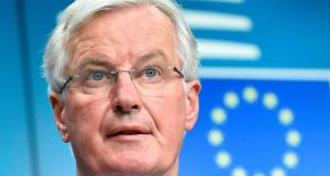 EU chief negotiator for Brexit Michel Barnier is set to express Brussels's frustration at the UK's inability to make its position clear. Photograph: John Thys/AFP/Getty