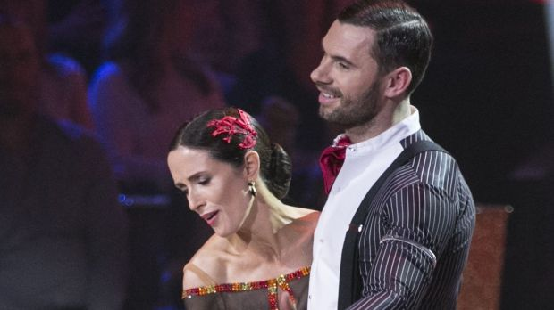 Broadcaster Maia Dunphy and Robert Rowinski the momDancing with the Stars. Photograph: