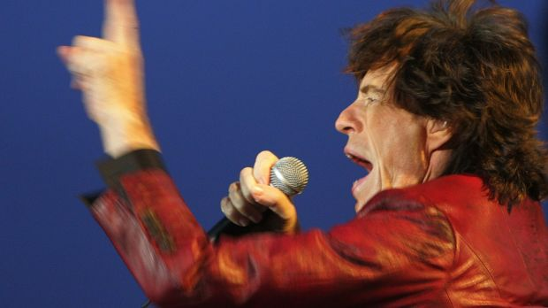 Returning after 25 years to Slane Castle, Mick Jagger performs to a crowd of 70,000 on Saturday 18th August, 2007. Photograph: Kate Geraghty
