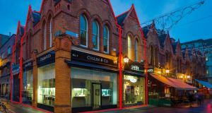 Cullen & Co Jewellers, with dual frontage on to Castle Market and Drury Street