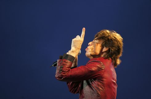 Migger Jagger of The Rolling Stones performs to a crowd of 70,000 as a  part of their 'Bigger Bang European Tour' at Slane Castle, August 18th, 2007. Photograph: Kate Geraghty