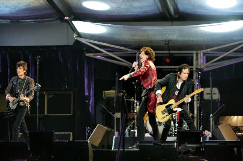 Ronnie Wood, Mick Jagger and Keith Richards rock out at Slane in 2007