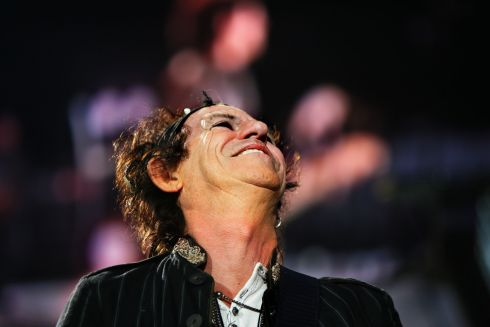 A look to the heavens from Keith Richards during the Slane 2007 concert. Photograph: Kate Geraghty