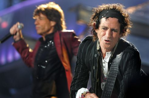 Mick Jagger and Keith Richards on stage at Slane in 2007. Photograph: Kate Geraghty
