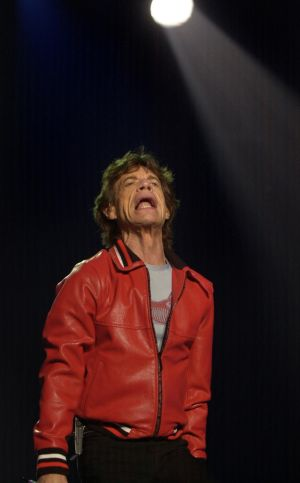 Mick Jagger performing with the Rolling Stones at the Point - now 3Arena -  in September 2003. Photograph: Bryan O'Brien