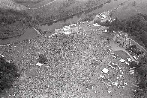 The band also played Slane Castle in July 1982. This aerial view  was captured by Irish Times photographer Tom Lawlor