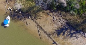 The remains of a ship that could be the 'Clotilda' in Mobile County, Alabama. File photograph: Ben Raines/Al.com via AP