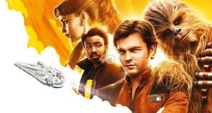 Alden Ehrenreich stars as Solo, joined by a cast that includes Thandie Newton, Woody Harrelson, Phoebe Waller-Bridge and Donald Glover, who appears as a young Lando Calrissian