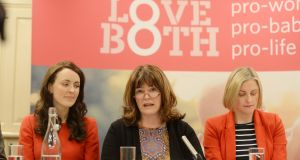 File image of Aine Kierans, Caroline Simons and Cora Sherlock  at a Pro Life Campaign event. File photograph: Alan Betson/The Irish Times