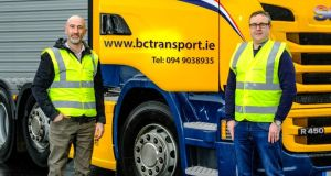Karl Lusted and Martin Farrell, co-founders of Galway-based start-up Aptarus, which  has designed a training platform that means companies will not have to take their fleets off the road for training purposes.