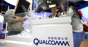 Broadcom's offer of $82 per Qualcomm share would take the form of $60 in cash and the remainder in Broadcom shares, according to a statement on Monday. Photograph: AP