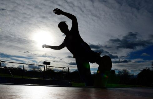 FAIR VIEW: Dylan Suton, from Sutton, Dublin,  skateboarding at Fairview Park. Photograph: Cyril Byrne/The Irish Times
