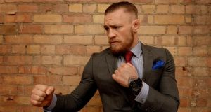 Irish MMA world champion Conor McGregor is slugging it out with a number of consumer brands in various trademark disputes. Photograph: David Sleator