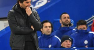 Antonio Conte insists that his Chelsea job is not under pressure. Photograph: Getty Images