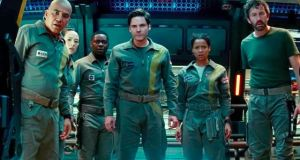 All the interesting stuff in The Cloverfield Paradox happens to Chris O'Dowd's character, Mundy (right)