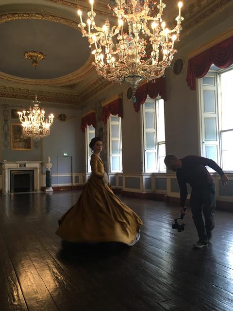 Behind the scenes at Castletown House, Co Kildare filming the opening scenes of Snaithe for TG4