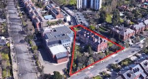 The St Mary's Home site in Ballsbridge, Dublin 4: A development of new houses and converted apartments on the site is likely to command top prices given the site's location