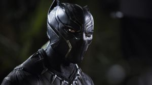 Chadwick Boseman plays Black Panther, the Martin Luther King to Killmonger's Malcolm X. Photograph: Matt Kennedy/Marvel Studios