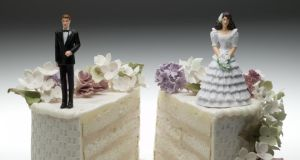 Divorce in Ireland: 4,162 applications were made in 2016, down from 4,290 in 2015. Photograph: Digital Vision/Getty