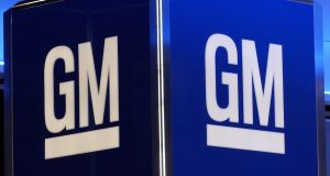 General Motors  posted better-than-expected quarterly results as cost cutting and higher vehicle prices offset a double-digit decline in US sales volume. Photograph: Stan Honda/AFP/Getty Images