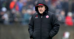 Mickey Harte:  has been trying to retame the wilderness for 10 years at this stage but   his conviction that he is capable of doing so has not wavered. Photograph: Bryan Keane/Inpho