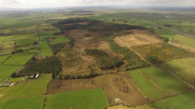 Aerial view of the Apple Data Centre site at Athenry, Co Galway: the building plan has been delayed for more than two years by a series of planning objections and legal actions