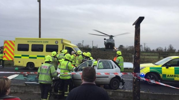 At least 15 people injured in school bus crash in Co Limerick