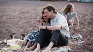 Colin Firth as Crowhurst and Rachel Weisz as his wife, Clare, in The Mercy