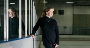 Tonya Harding at Mountain View Ice Arena in Vancouver last December. With her life a film, Harding looks back at the Nancy Kerrigan scandal and her struggles to tell her side of the story. Photograph: Kyle Johnson/The New York Times