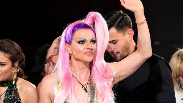 Courtney Act is crowned winner during the Celebrity Big Brother final. Photograph: Stuart C Wilson/Getty Images