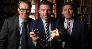 Ger Goold, chief operating officer and partner, Kernel Capital; Frank Smyth, chief executive, Pilot Photonics and  Kevin Healy of Bank of Ireland