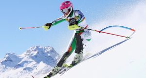 "Tess Arbez of Ireland: ""I'm better in giant slalom but I try to do both. GS is more technical but you have to be even stronger for slalom."" Photograph by Alexander Hassenstein/Getty Images"