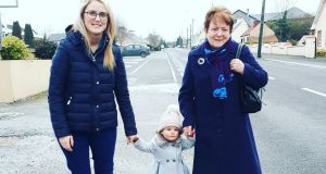 Three generations of Irish women: Laura, Isabelle and Pauline