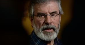 Outgoing leader of Sinn Féin Gerry Adams. 'The relationship between unionism and republicanism has grown increasingly toxic and he must take some responsibility.' Photograph: Cyril Byrne