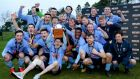 UCD celebrate with the Collingwood Cup after their win over Queens. Photograph: Philip Magowan/Inpho
