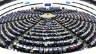 MEPs vote on the future composition of the European Parliament after Brexit in Strasbourg on Wednesday. Photograph: Patrick Seeger/EPA