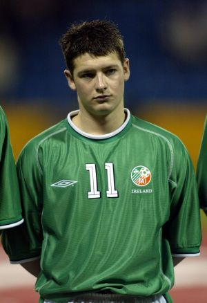 Early days: Lining out for the Republic of Ireland under-21 side in March 2003. Photograph: Andrew Paton