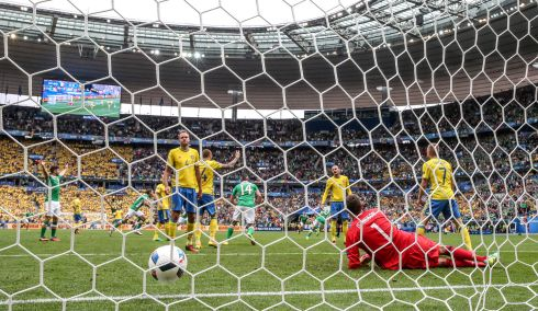 We'll always have Paris: That goal against Sweden at Euro 2016. Photograph: James Crombie