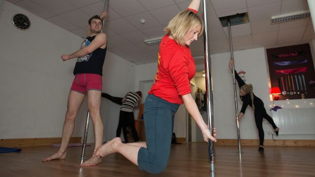 The first thing you need to know about pole fitness is that you are working with your own weight. Photograph: Dave Meehan/The Irish Times