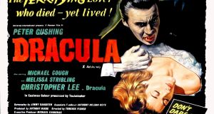 The 1958 poster for the film Dracula